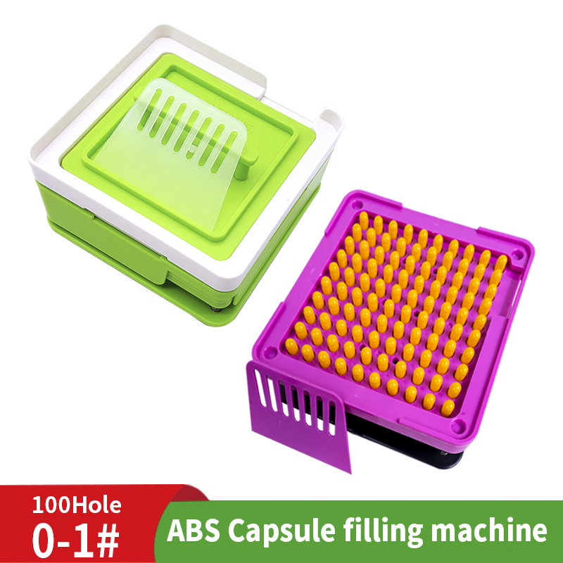0 # Blue Black ABS 100 Glue Hole Machine Manual Capsule Powder Filling Plate Manual Capsule Filling Plate