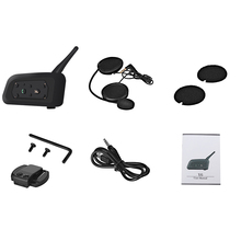 Motorcycle Helmet Bluetooth Headset Intercom 6 Riders 1200m Wireless Intercomunicador Bt Interphone Motorcycle Accessories
