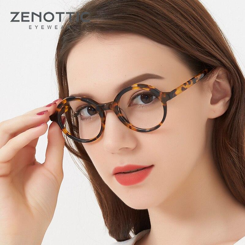 Retro Optical Glasses Women Round Black Tortoise Horn Rimmed Glasses Frame Clear Lens Gafas Vintage Eyewear Nerd Eyeglasses