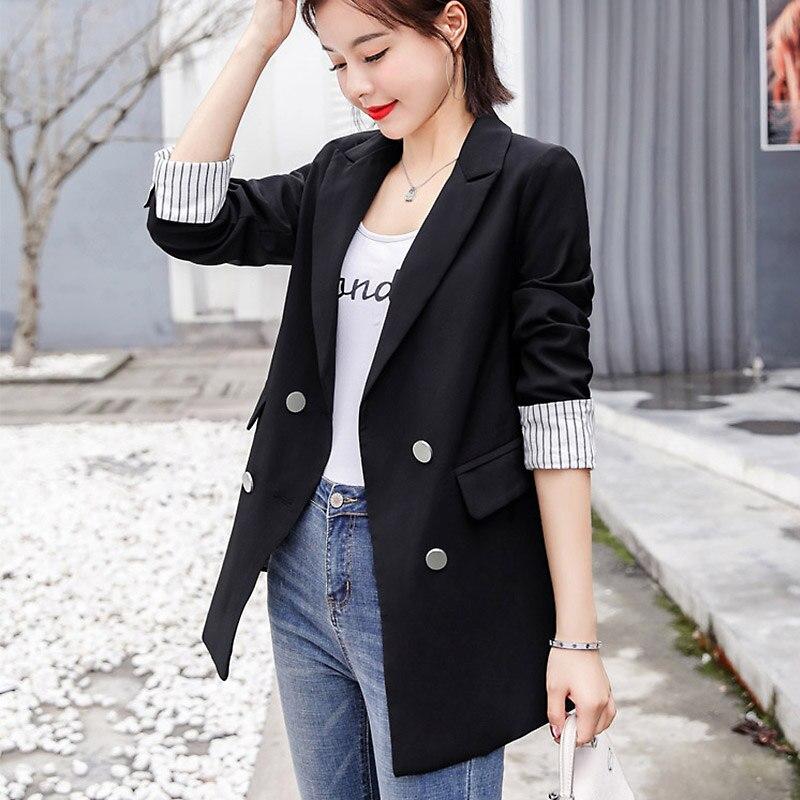 Fashion Suit Blazer Jacket Women New Long Sleeve Coat Women Elegant Single Breasted Jacket Suits Female Ladies Loose Coat