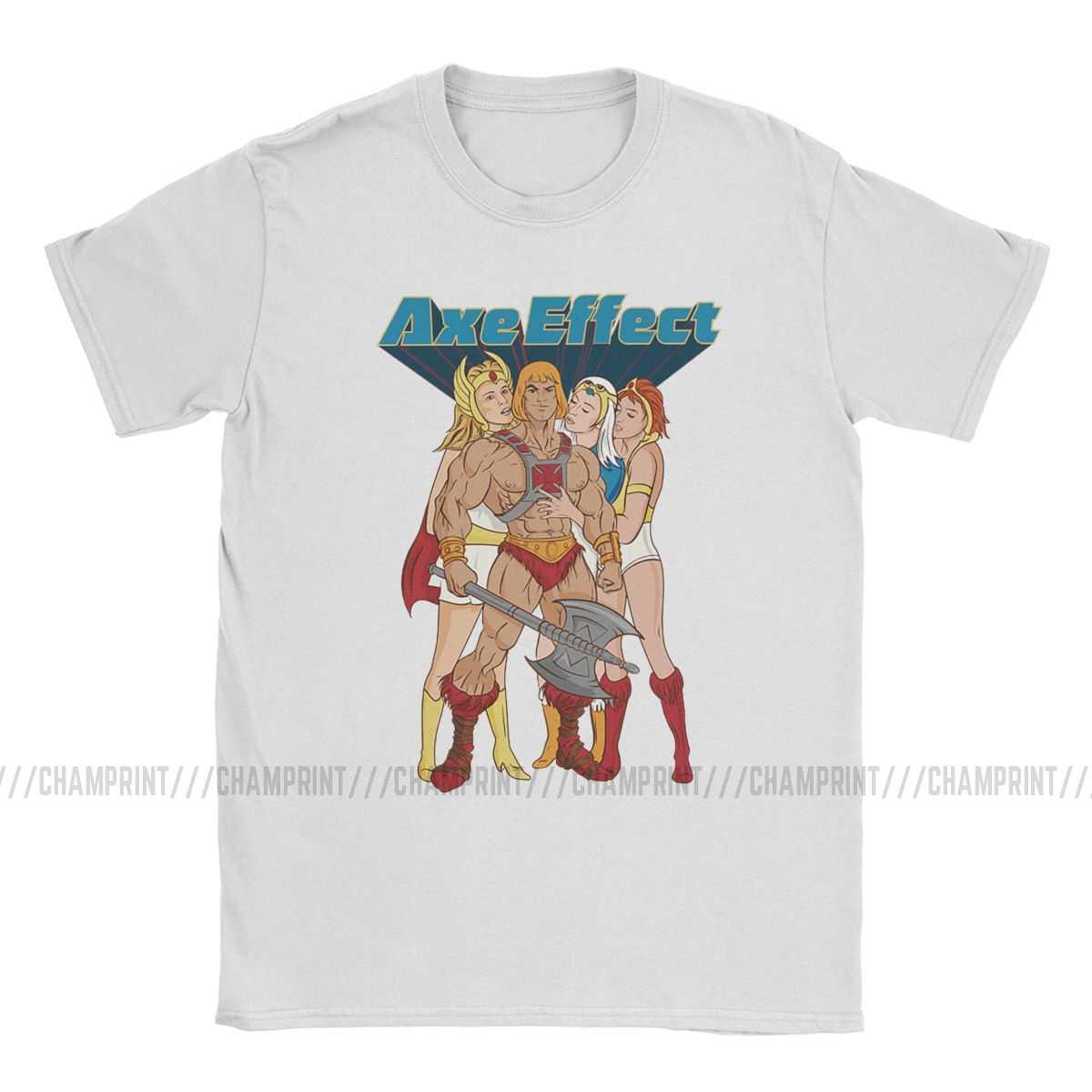 Il Ascia Effetto Ha Uomo He-Man Masters Of The Universe T degli uomini di Camicette Skeletor 80s Lei -Ra Bestia Magliette Manica Corta T-Shirt In Cotone