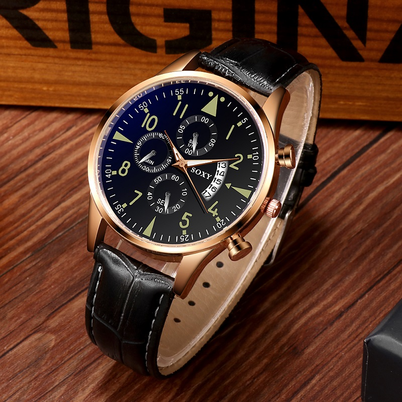 SOXY Mens Watches Reloj Hombre Top Brand Luxury Sport Business Classic Luminous Watch Men Quartz Watch Casual Relogio Masculino