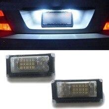 2 uds coche LED para placa de matrícula luces 6000K placa bombilla de luz para Mini Cooper S R50 R52 04-08 R53 01-06