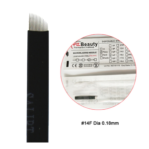Image 3 - Extremely Thin 0.18mm Nano blades microblading needles Permanent Makeup Eyebrow Tattoo Needle Blade Microblade 3D Embroidery