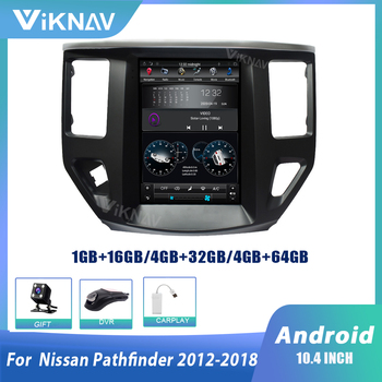 Android car radio for Nissan Pathfinder 2012 2013 2014 2015 2016 2017 2018 multimedia player screen GPS navigation 10.4 inch image