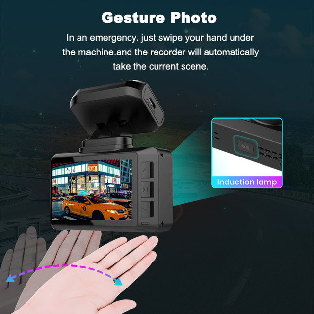 4K WIFI Dash Cam GPS Track Car DVR 3840*2160P 30FPS Ultra HDSuper Night Vision Camera Video Recorder Auto Phone Connection 3
