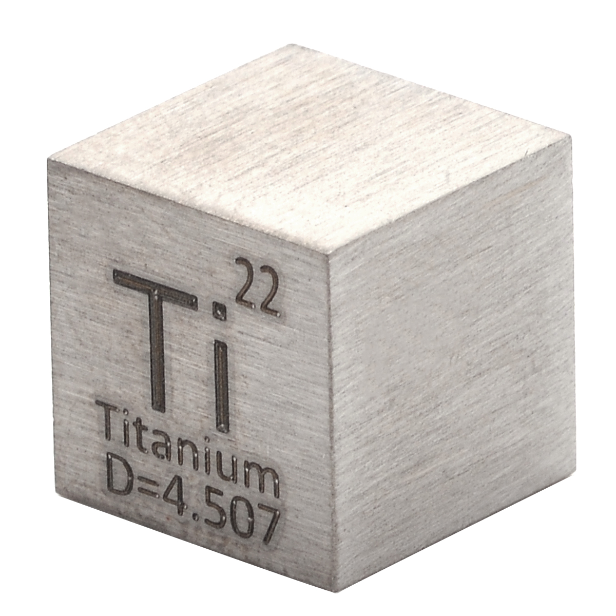 1Pcs High Purity 99.5% Titanium Ti Metal Carved Element Periodic Table 10mm Cube Wonderful Collection 10x10x10mm