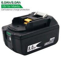 Batteria ricaricabile agli ioni di litio da 8,0 ah 6,0 ah BL1880B BL1860B per elettroutensile a batteria Makita 18V LXT400