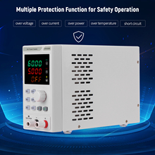 220V 0-60V 0-5A Programmable DC Power Supply Power Regulator 4-digit LED Display Voltage and Current Regulated Power Supply