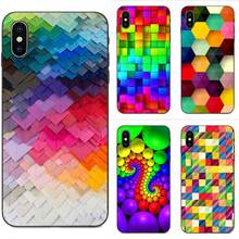 For Xiaomi Redmi Mi Note 2 3S 8 9 Lite SE Pro Cover Style Design Cell Phone Case Blocks Rainbow 3d Graphics(China)