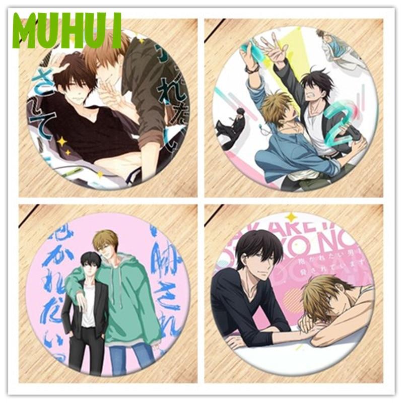 Free Shipping Anime Dakaretai Otoko 1-i Ni Odosarete Imasu Brooch Pin Badge For Clothes Backpack Decoration B045