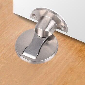 Zinc Alloy Floor Door Stop Thickened Collision Avoidance Floor Strong Magnetic Collision Avoidance Door Stopper Free Punching