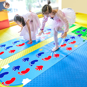 Kid's Jumping Carpet Baby Jump Lattice Kindergarten Team Game Pad Early Childhood Fun Toys Child Indoor Outdoor Sports Toys(China)