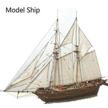 1:100 DIY Wooden Assembly Sailing Ship Model 3D Designer Classic Sailing Boat Laser Cutting Process Puzzle Toys for Adult