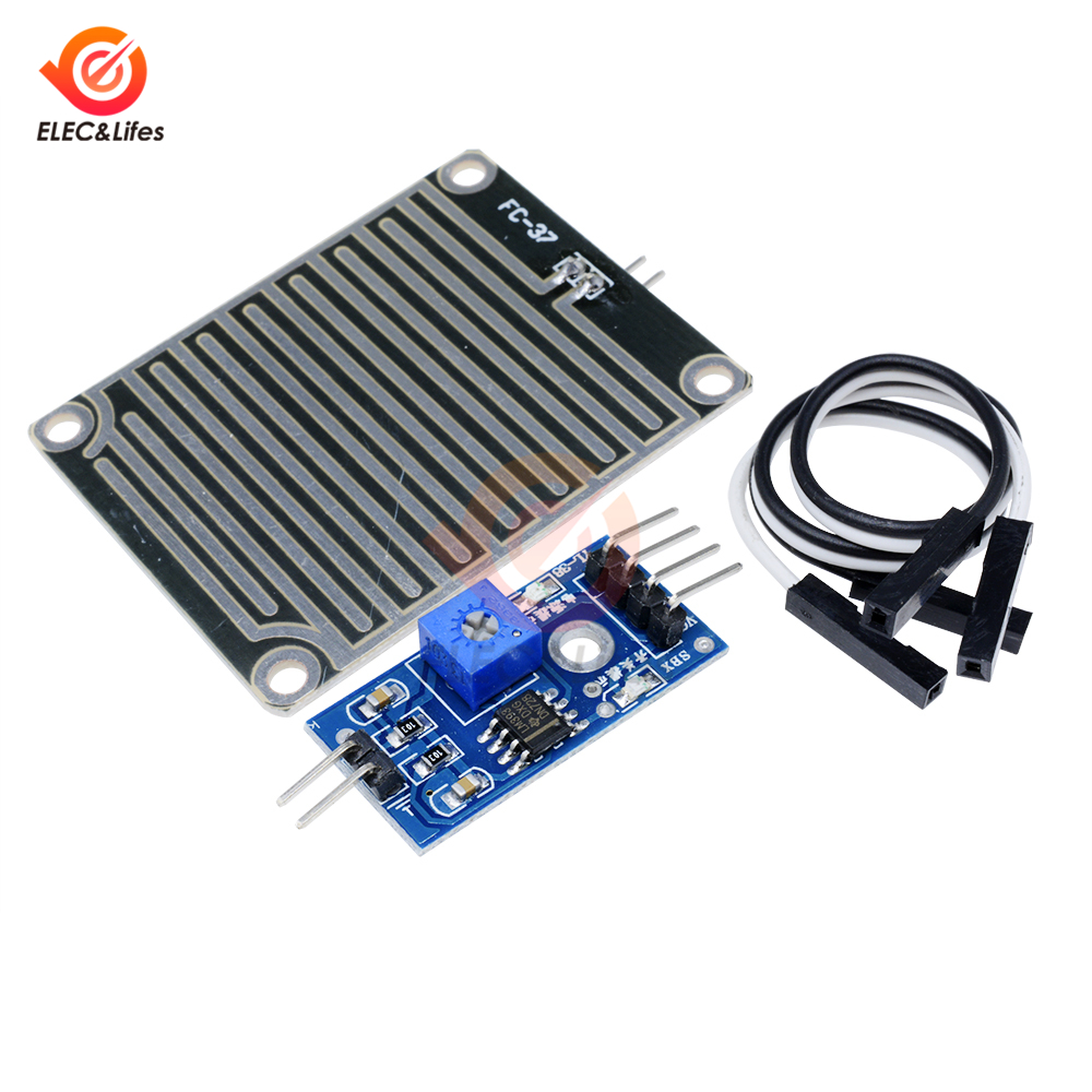 Rain Water Sensor Module + DC 5V 12V Relay Control Module Rain Sensor Water Raindrops Detection Module For Arduino Robot Kit