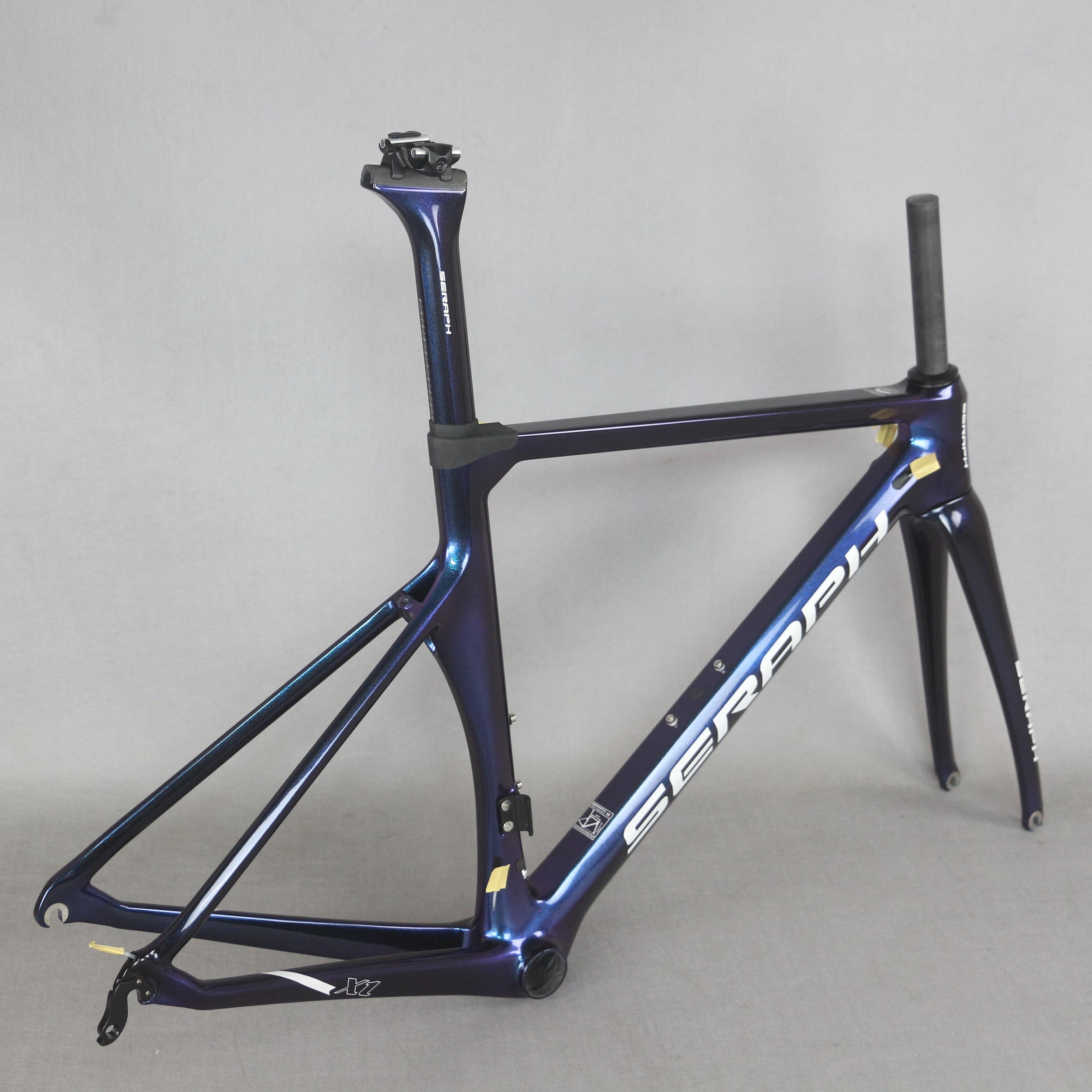 SERAPH Chameleon Paint Road Bike Carbon Road Frame Tt-x1 Accepts Custom Spray Paint Patterns