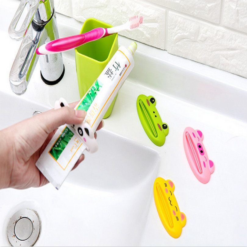 Cartoon Panda pig Frog dropshipping home toothpaste dispenser squeezer Toothpaste distributor tooth paste