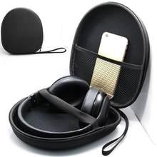 Eva escudo duro fone de ouvido capa protetora caso fones saco caixa viagem para sony headband cabos adaptadores acessórios