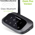 Transmisor Bluetooth Avantree aptX HD de largo alcance para Audio de TV, transmisor y receptor inalámbrico, Bypass y trabajo Bluetooth