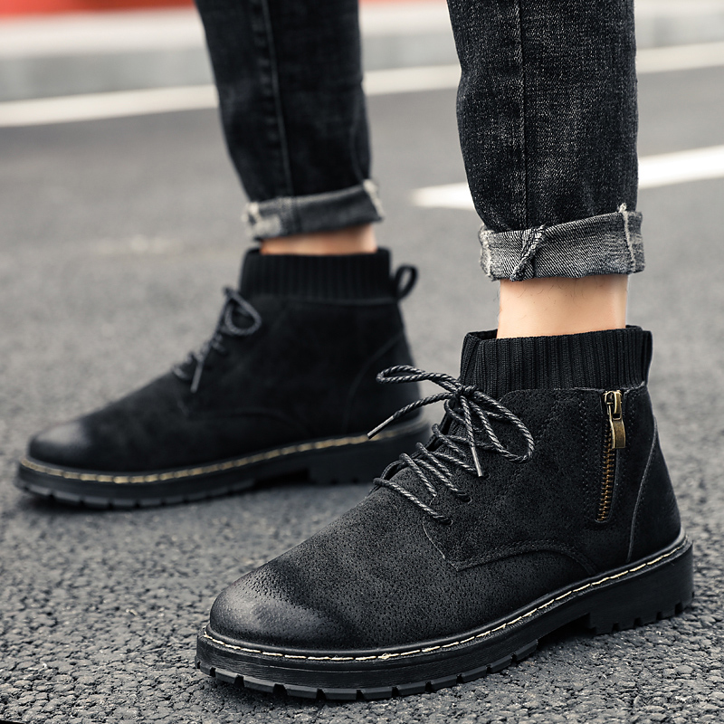 High Quality Retro Mens Boots Ankle Martin Booties Fashion Casual Shoes For Men Sneakers Man Botas Hombre Footwear Male Adult 88