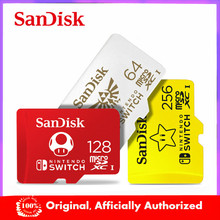 Original SanDisk 256GB tarjeta Micro SD U3 128GB tarjeta Flash 64GB tarjeta de memoria de 4K Ultra HD TF tarjeta para Nintendo interruptor