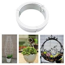Plastic Coated Plant Support Iron Wire Freely Bendable DIY Flowerpot Shape Iron Wire Flower Stand Greenhouse Support Garden Tool