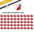 Самые продаваемые 50 шт. кабельные зажимы самоклеющиеся шнур Управление черный держатель проводов Органайзер зажим Поддержка оптовая прода...