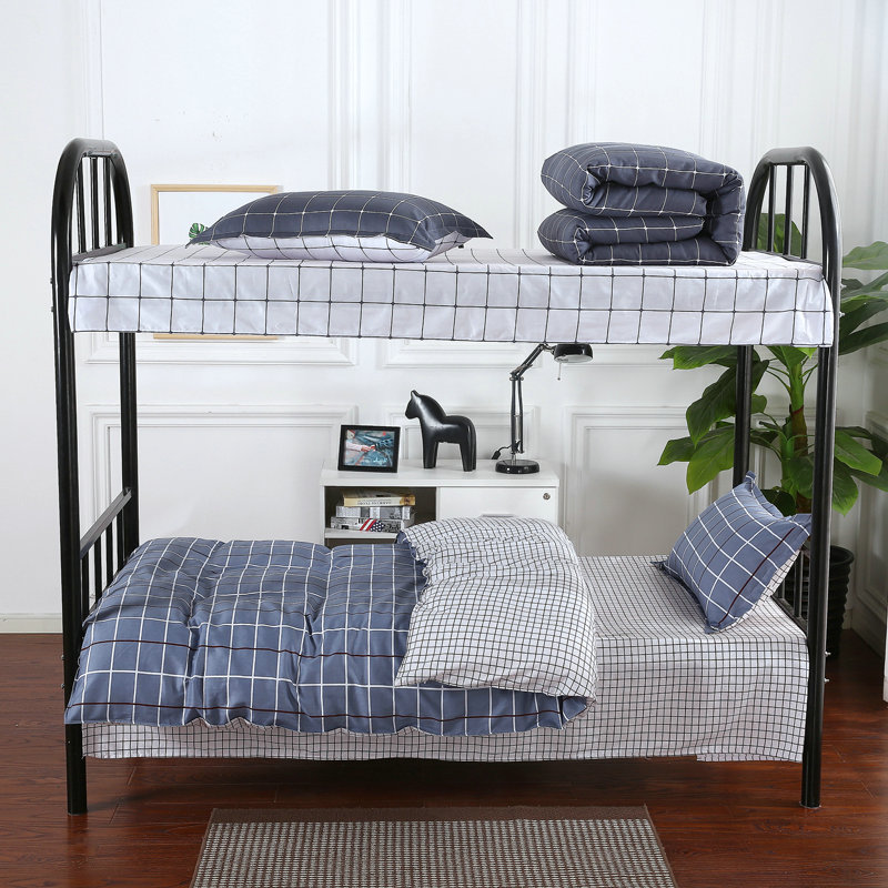 Students Dormitory Bedding Article Textile Single Bed Three-piece Set Bunk Bed Three Sets Of Quilt Cover