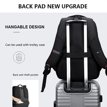 Anti-thief USB Charging Laptop Backpack Men Oxford bagpack Waterproof Travel Backpack Vintage School Bag 15/17inch Male Mochila 2