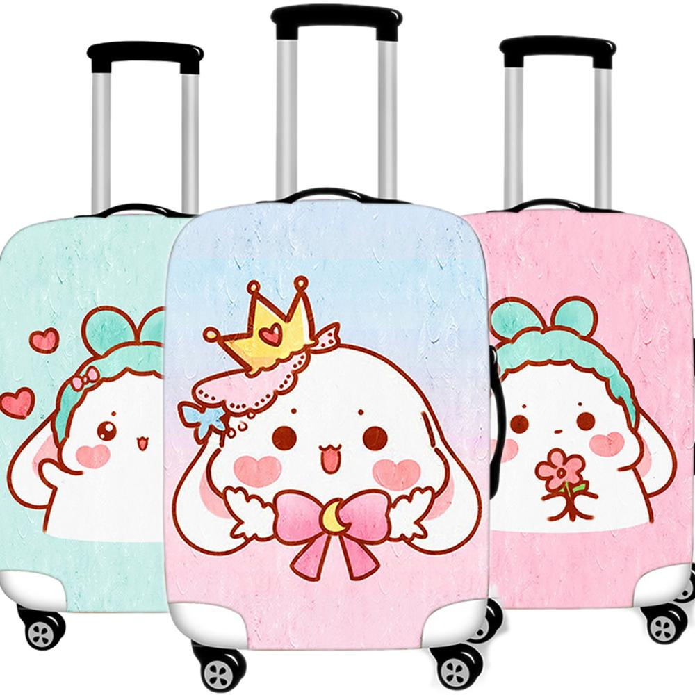 Travel Accessories Kawaii Animal Luggage Case Protective Cover Waterproof Thicken Elastic Suitcase Dust Case Apply 18-32 XL Inch