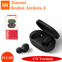 Original Xiaomi Redmi Airdots 2 TWS Wireless Earphone AI Gaming Sports Mic Handsfree Earbuds 5.0 Bluetooth Voice Control Headset