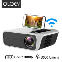 OLOEY New Year full HD mini vedio projector 1920*1080p 3000 lumens LED 3D Andrio