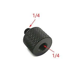 """Image 2 - 10 pces 1/4 """"a 3/8"""" 5/8 """"a 1/4"""" macho para rosca fêmea parafuso adaptador de montagem placa tripé parafuso montagem para câmera slr"""