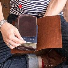 AETOO Cowhide multifunctional handbag men's handbag mobile phone bag bag document bag hand grab Bag push lock grab bag