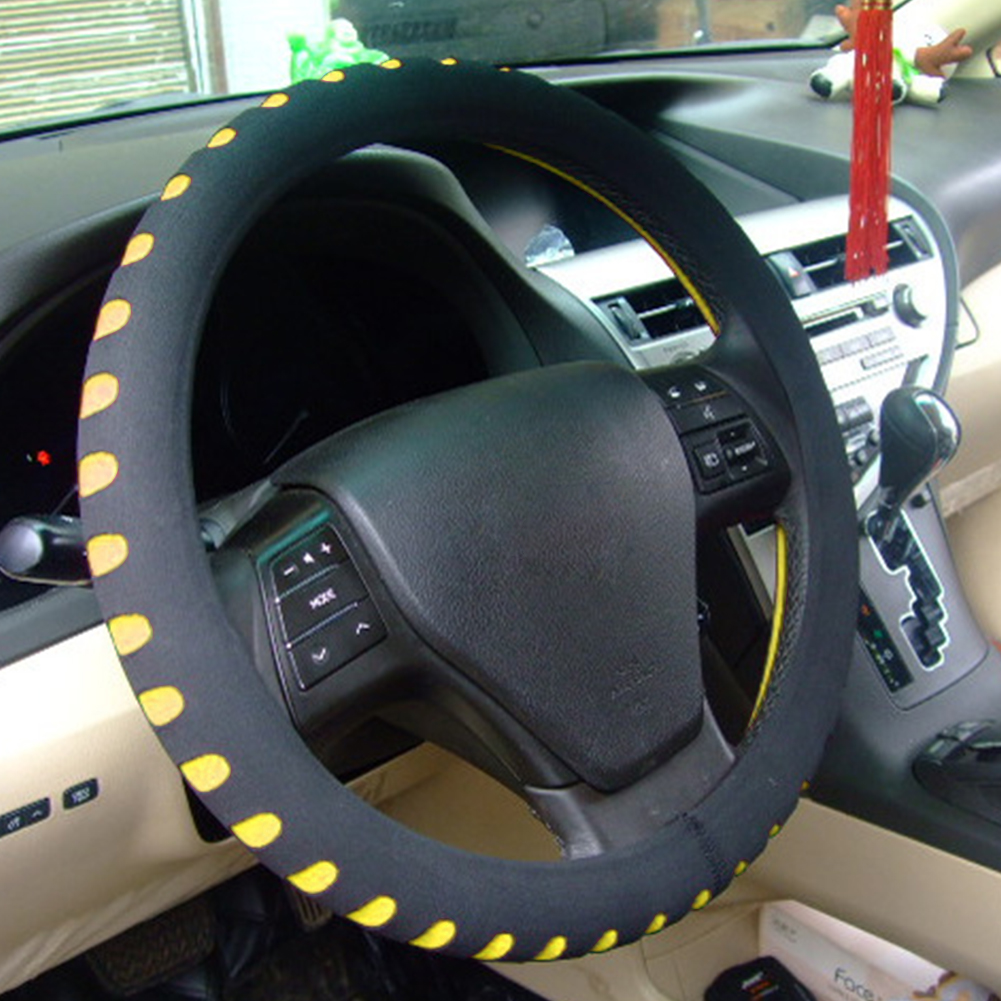 Car Steering Wheel Cover EVA Punching Universal Car Steering Wheel Cover Diameter 38cm Automotive Sup for Choice