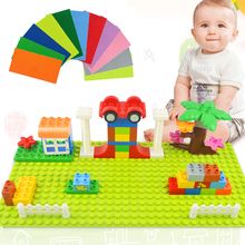 Big Size Blocks Base Plate 32*16 Dots 51*25.5cm Baseplate Building Toys DIY Building Blocks Toys For Children Brick Kids Gift стоимость
