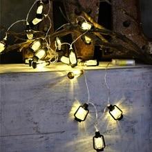 LED Kerosene Light String Halloween 4M 20 Lights Retro Lanterns Shape Small Home Party Decoration