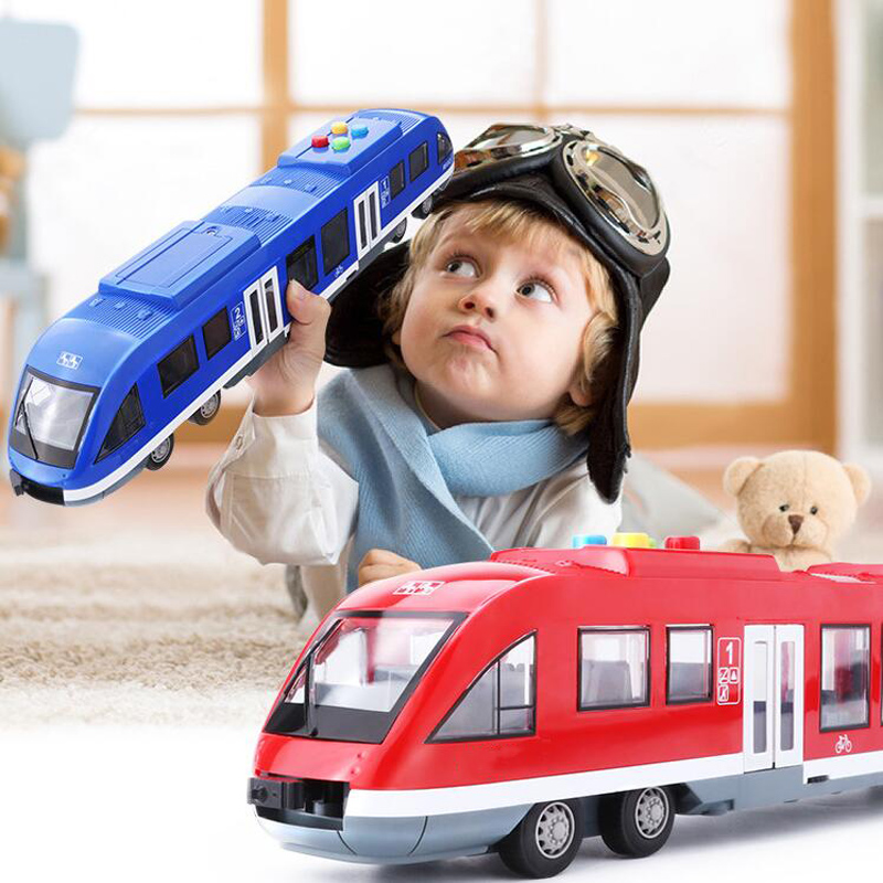 Simulation Inertia City Subway Train Toy Car Model Double Door Children's Puzzle With Light Music Story Toy Car Children's Gift