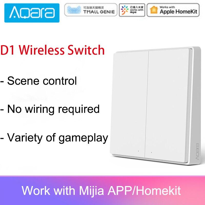 Neueste Original D1 Version Aqara Schalter Smart Licht Fernbedienung ZigBee Wireless Wand Schalter Für Mijia Mi Hause APP