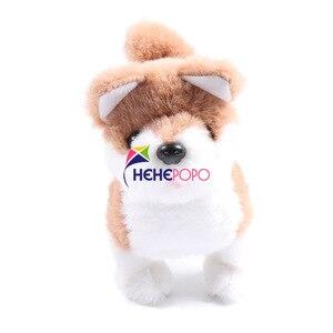 Image 5 - 2pcs / Set Hot Electric Soft Plush Robot Dog Husky Toys Can Bark Walking Forward and Backward Simulation Toys for Children Gifts