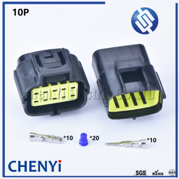 1 sets 10 pin way male female waterproof wire connector auto electrical plug conector 174655-2 174656-7 image