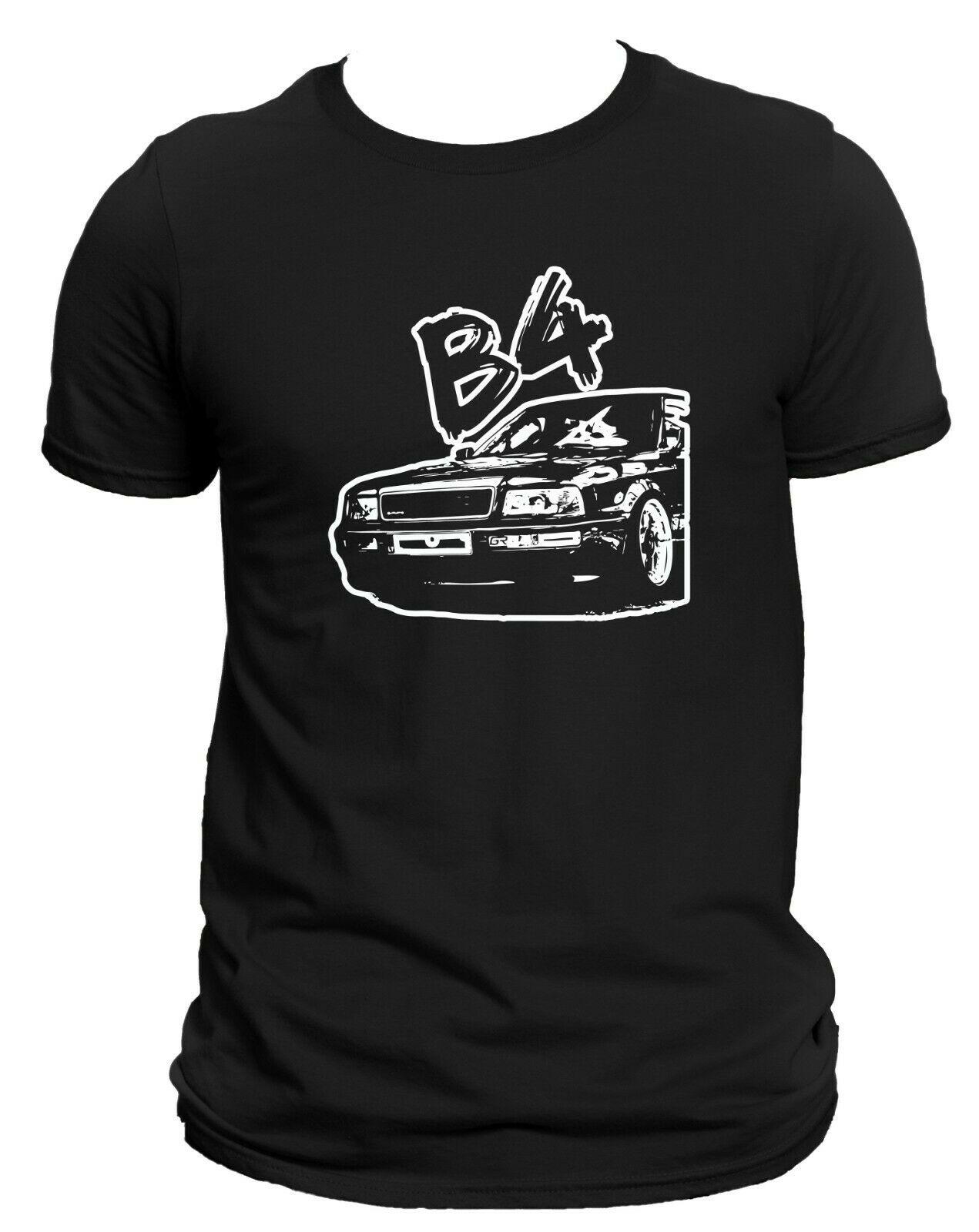 80 B4 футболка, новинка, DTG печать логотипа, рубашка с коротким рукавом, удивительный автомобиль, подарок, хлопок