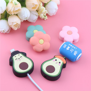 Cute Cartoon Flower Cable Protector Anti-breaking For iphone5 6S 7Plus Usb Charger Cable Holder Lovly Data Line Cord Protector