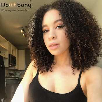 U Part Wig Fummi Curly Human Hair Wig 150 180 250 Density Pre Plucked Brazilian Remy Human Hair Wigs 8-22 Inch For Black Women - DISCOUNT ITEM  49% OFF All Category