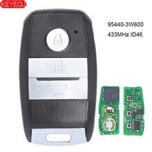 رقاقة KEYECU الذكية مفتاح التحكم عن بعد فوب 3 أزرار 433MHz ID46 لكيا K5 sportge 2013 2014 2015 2016 FCCID: 95440 3W600