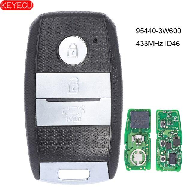 KEYECU חכם מרחוק מפתח Fob 3 כפתור 433MHz ID46 שבב לקאיה K5 Sportsge 2013 2014 2015 2016 FCCID: 95440 3W600