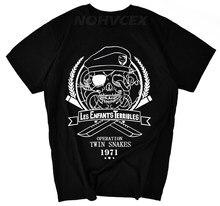 Metal gear sólido mgs t camisas men verão manga curta o-pescoço algodão masculino t camisa