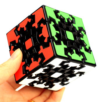 Fanxin Gear Magic Cube 3x3x3 Black Stickers Speed Puzzle Cube Cubo Magico 3x3 Game Cube Educational For Kids Gift 1