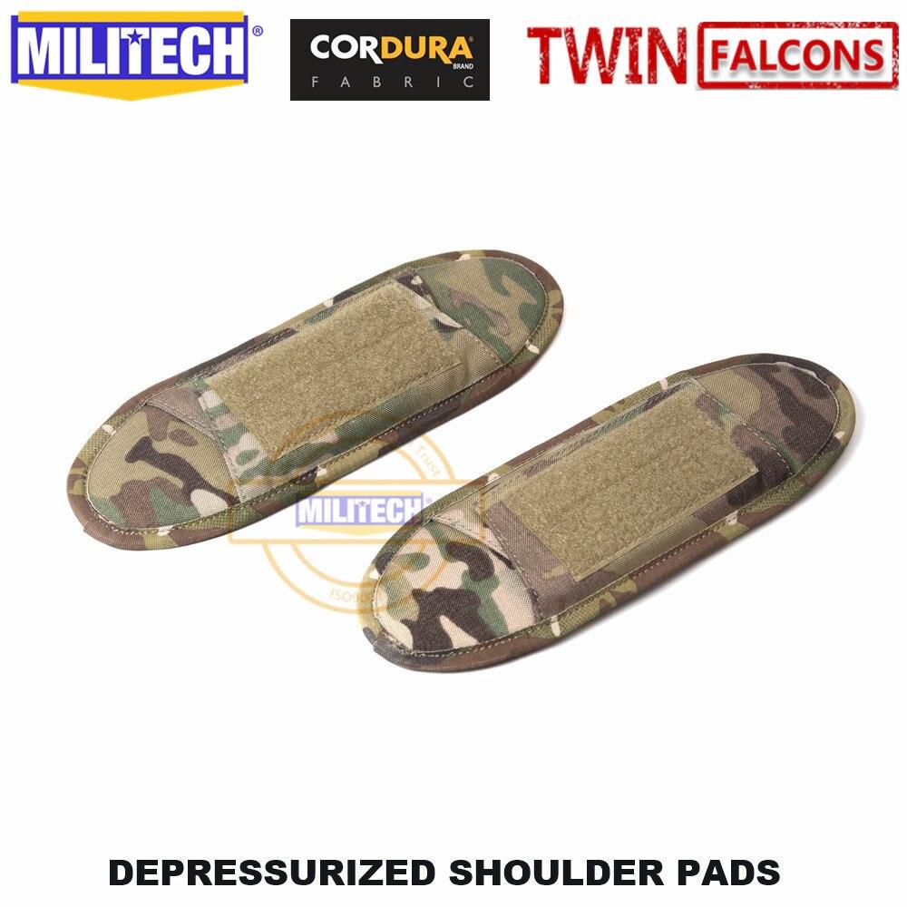 MILITECH TWINFALCONS TW Delustered Cordura Наплечные подушечки, жилет, наплечный ремень, комплект наплечных подушек - Цвет: Multicam