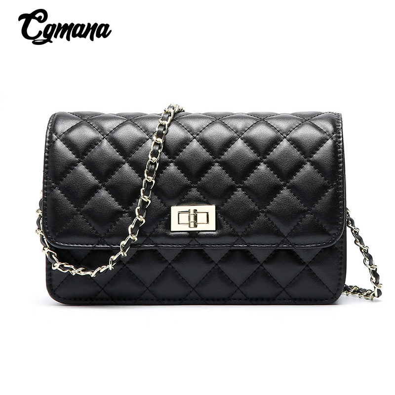 Fashion Brand Classic Chain Bags Diamond Lattice Cowhide Leather  Women Shoulder Bag Crossbody For Messenger